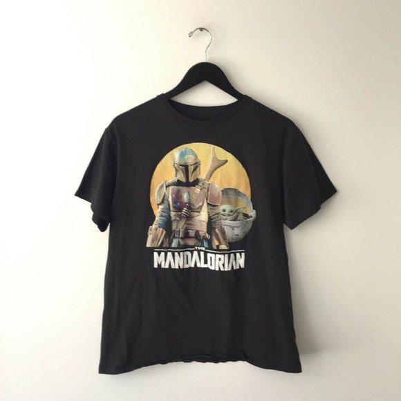 Star Wars Mandalorian T Shirt Baby Yoda Trendy L